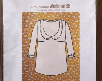 Aime Comme Marie Pattern for the Mademoiselle Blouse