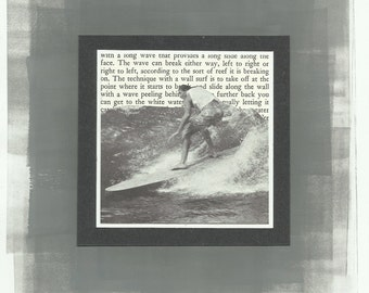 Mixed Media Collage Surfing