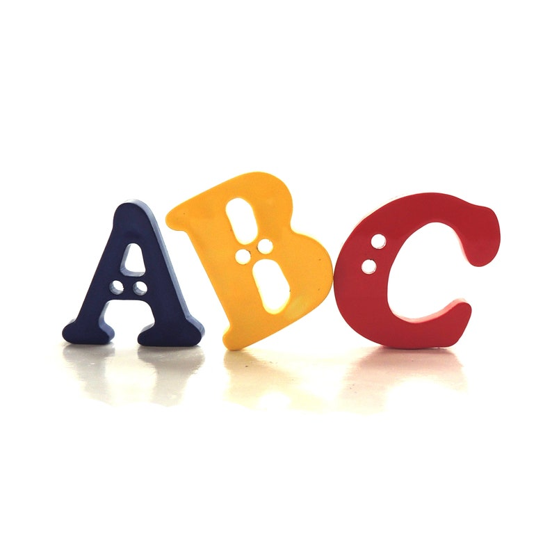 ABC Buttons by Favorite Findings/ Novelty Embellishments image 0