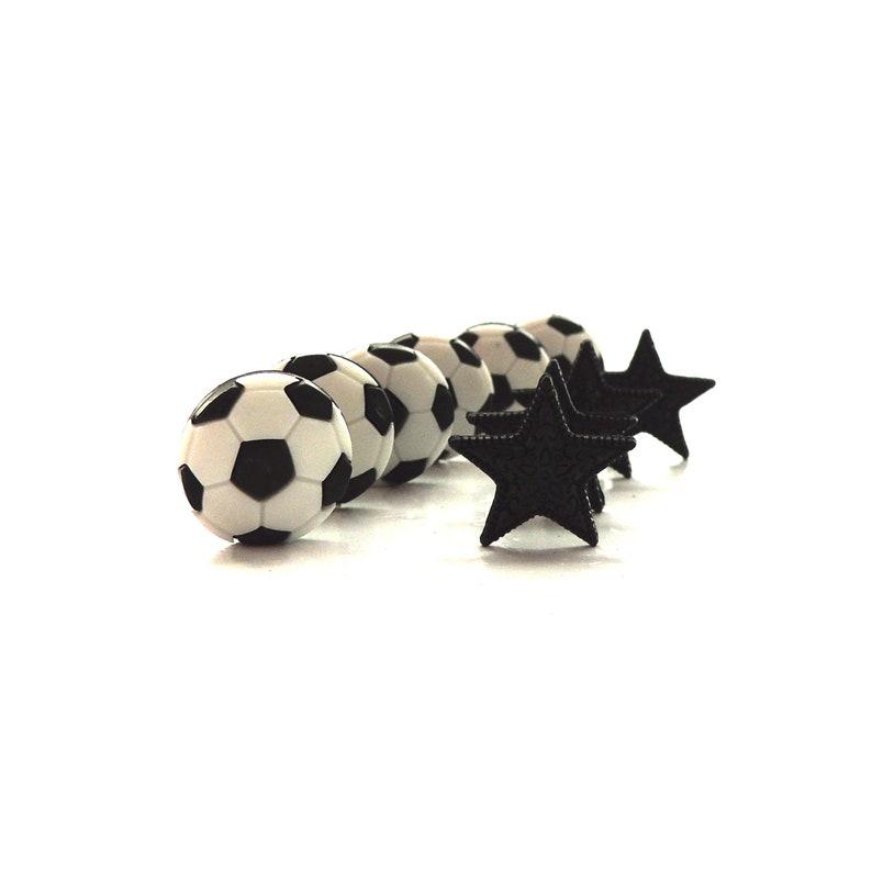 Soccer Star Buttons by Dress It Up // Jesse James Novelty image 0