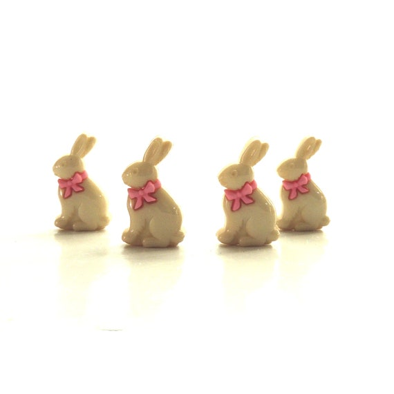 Chocolate Bunnies White Chocolate Jesse James Buttons ~ Dress It Up ~ EASTER