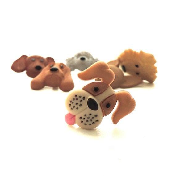 Jesse James Buttons ~ Dress It Up ~ WOOF WOOF Dog Buttons  Craft ~ Sew