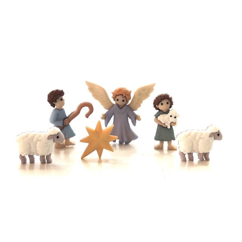 Dress It Up Holiday Buttons ~ Jesse James The Good Shepherd Angel /& Shepherd