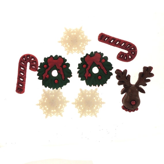 10 Glitter Snowflakes Dress It Up Holiday Collection Paper Craft Embellishments