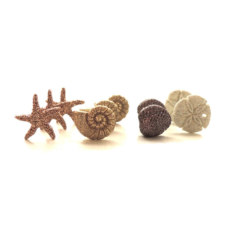 Seashells /& Starfish Craft Buttons 1st CLASS POST Sea Shell Holiday Glitter Sand
