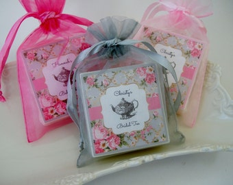 tea party bridal shower favors baby shower favors set of 12 tea party favors soap favors