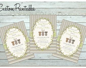 Woodland Invitation, woodland shower invitation, Printable Custom  Invitation, Baby Sprinkle Invitation