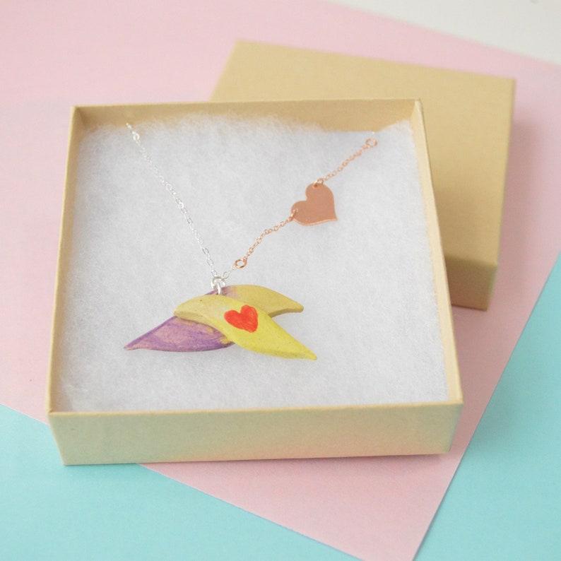 Lovebird Necklace Silver /& Rose Gold