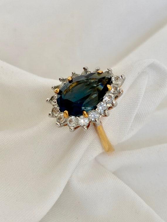 Vintage Sapphire and Diamond Ring - image 6