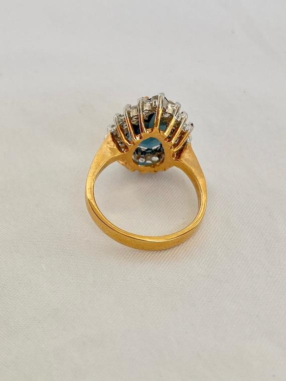 Vintage Sapphire and Diamond Ring - image 9