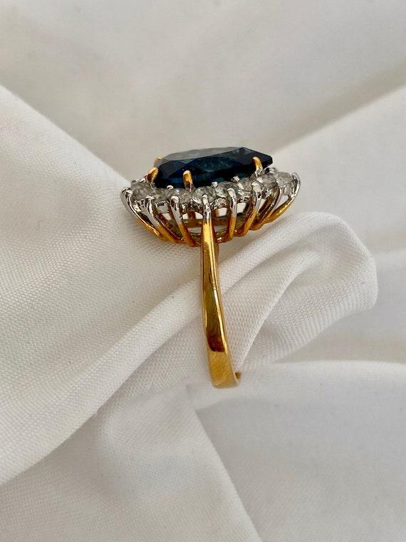 Vintage Sapphire and Diamond Ring - image 8