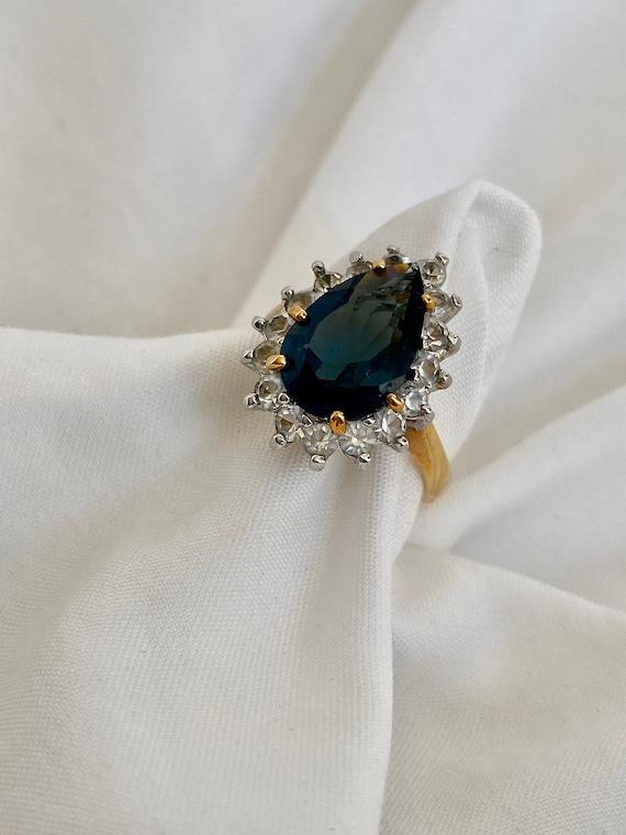 Vintage Sapphire and Diamond Ring - image 4