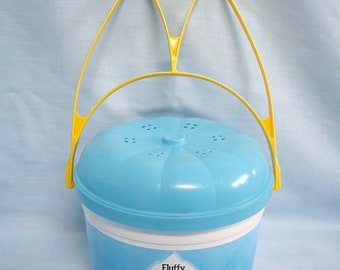 Vintage Fluffy McBunny McDonalds Plastic Bucket