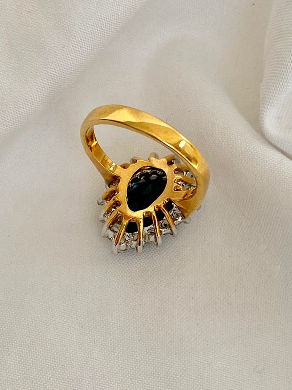 Vintage Sapphire and Diamond Ring - image 10