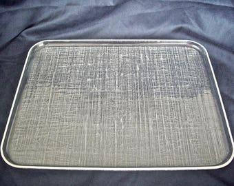 Vintage Rectangular Lucite Serving Tray
