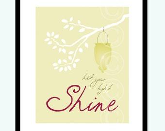 Let Your Light Shine - modern fine art print