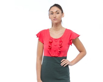 Holiday Sale // Knit Coral Dress