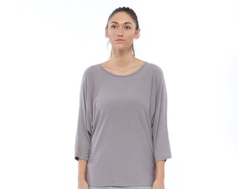 Holiday Sale // Knit Cotton Dolman Sleeve Top
