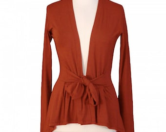 Holiday Sale // Ginger Red Knit Wrap Cardigan