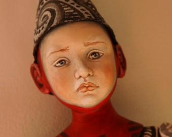 Circus Zed Performer OOAK Art Doll