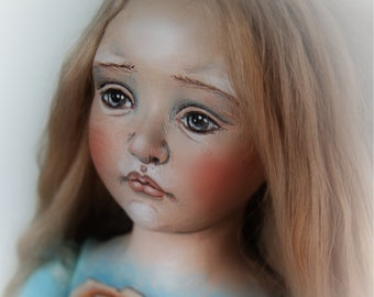 Flora OOAK Cloth and Clay Wall Doll