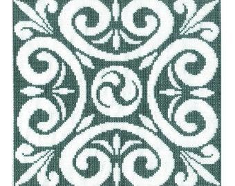 Celtic Triskele Motif Cross Stitch Pattern - Digital Download
