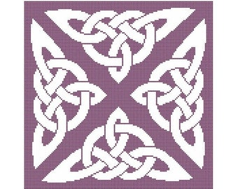 Celtic Knot Motif Counted Cross Stitch Chart - Digital Download