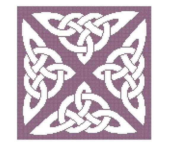 Digital Download Celtic Triskele Motif Cross Stitch Pattern
