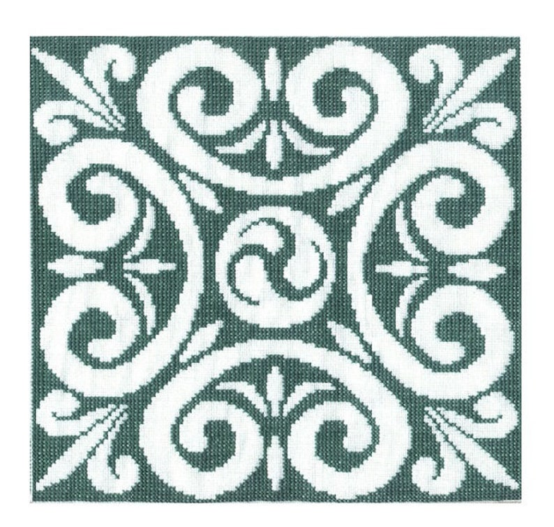 Celtic Triskele Motif Cross Stitch Pattern  Digital Download image 0