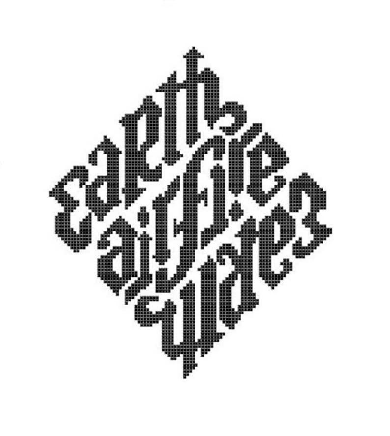 Elemental Diamond Counted Cross Stitch Pattern  Digital image 0