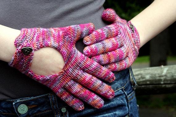 Hand Knit Pattern Driving Gloves Knitting Pattern Fingering