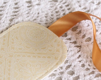 Ivory & Gold - SALE - Luggage Tag