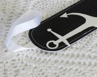 Black Anchor - Single Luggage Tag