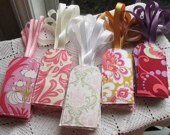 100 You Choose The Fabric -Custom Luggage Tags - Wedding Favors