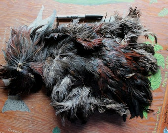 Real dried free range rooster skin pelt with feathers for crafts, fly tying, display, more DESTASH