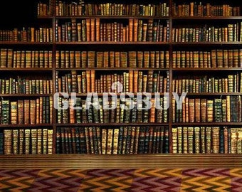 Neat Bookshelf 10ft X Backdrop Computer Printed Photography Background HY CM 2603