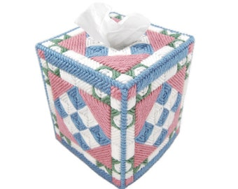 PATTERN: Quilted Tissue Box Cover #3 in Plastic Canvas