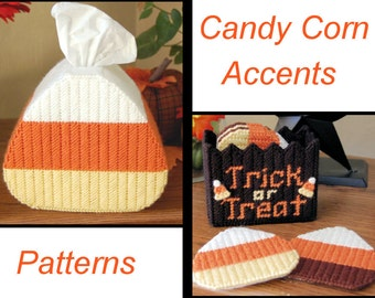 PATTERN: Candy Corn Accents in Plastic Canvas