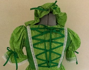 Green Munchkin Leprechaun Dress Saint Patty Dress