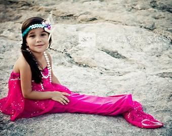 Mermaid Tail Towel In Hot Pink by Kiki's Things on Etsy