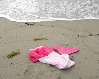 Mermaid Tail Towel In Hot Pink