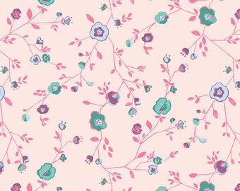 Woodland Floral Pink - Garden Party  - Katy Tanis  - Blend Fabrics - 100% Quilters Cotton