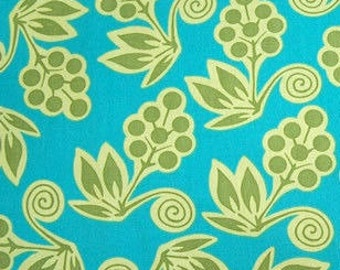 Ginger Blossom - Blossom Buds Turquoise Green SH3515 - Sandi Henderson Michael Miller - Available in FQ thru Yards, You choose the length