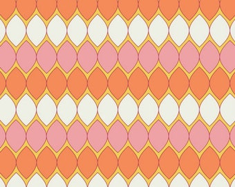Mod Pop Carnation - Dreamin' Vintage - Jeni Baker  - Art Gallery Fabric - 100% Quilters Cotton - DV-50025