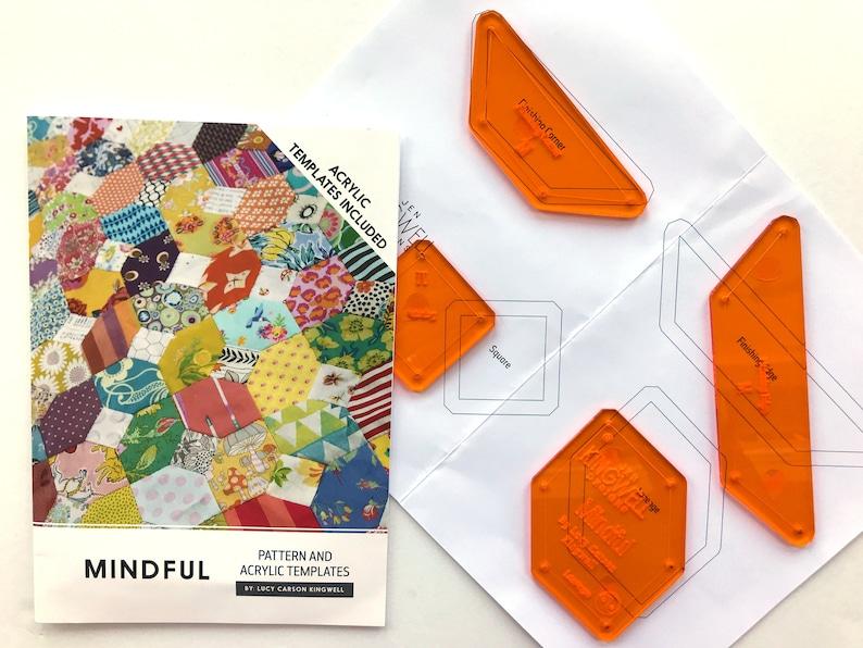 Pattern /& Acrylic Templates Lucy Carson Kingwell Jen Kingwell Designs Mindful