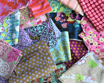 Designer Fabric Scraps 100% Quilters Cotton - 2 Yards Shipped USPS First Class