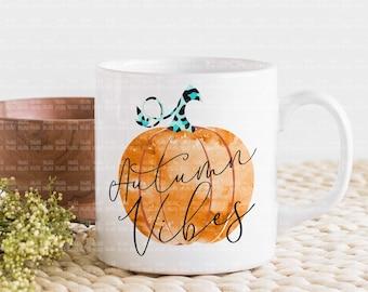 Autumn vibes png, watercolor pumpkins png, fall shirt sublimation designs digital download, blue leopard pumpkins, fall graphics