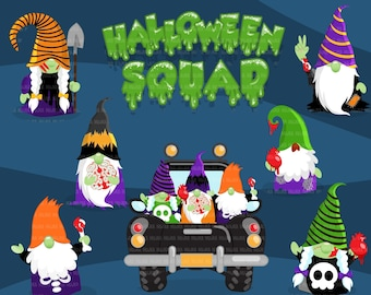 Halloween clipart, Halloween squad, Zombie gnomes, zombie png, halloween png, halloween sublimation designs, halloween, halloween shirt art