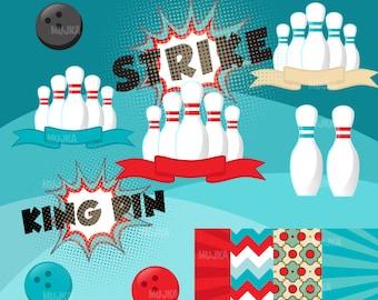 Moxie 12x12 Scrapbooking Paper Bowling Strike