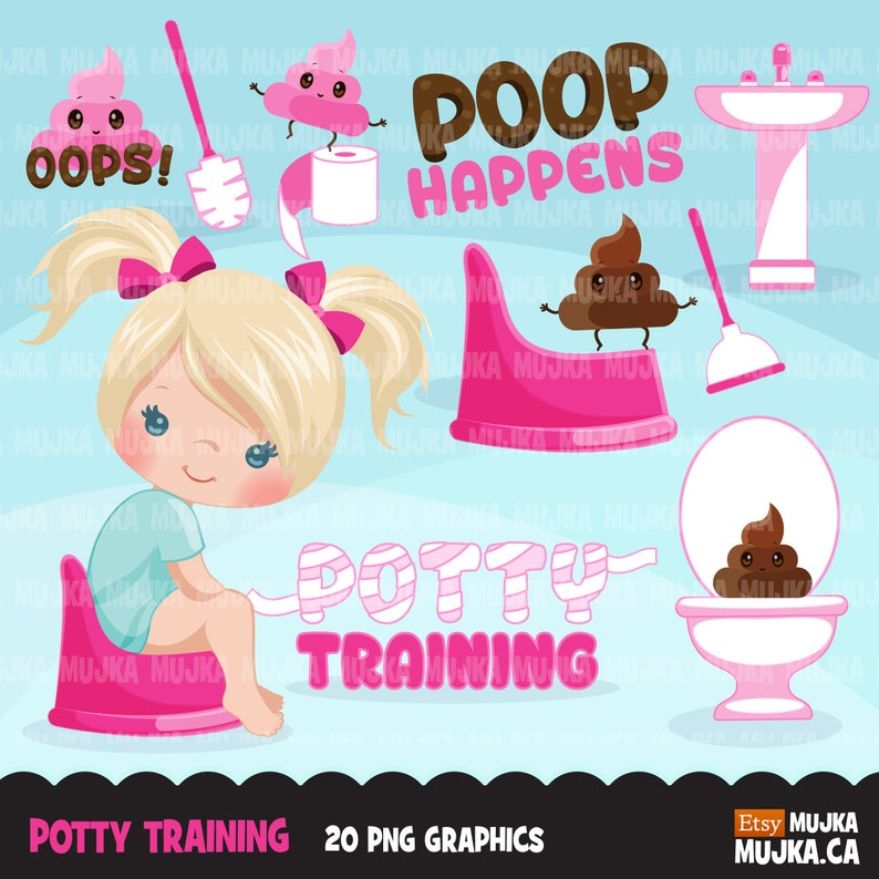 toilet paper planner sticker toilet kawaii poop teacher education clip art toilet brush poop Bathroom chores Potty Training Clipart